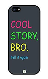 iZERCASE iPhone 5, iPhone 5S Case Cool Story Bro RUBBER CASE - Fits iphone 5, iPhone 5S T-Mobile, Verizon, AT&T, Sprint and International
