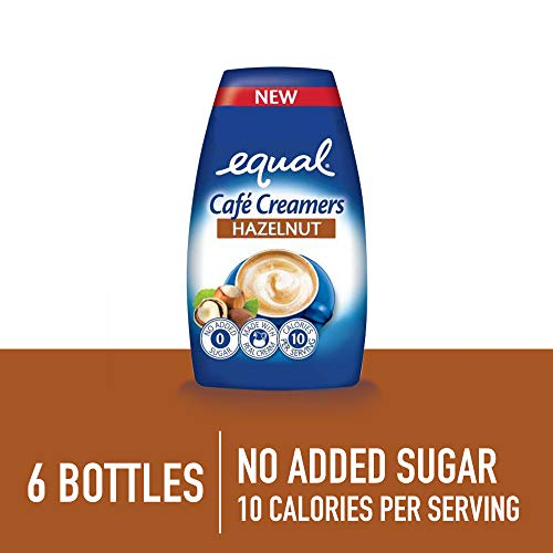 EQUAL Caf Coffee Creamers Hazelnut, Low-Calorie Coffee Creamer, 1.62 Ounce (Pack of 6)