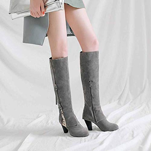 Zipper Winter Sand Lace Y E Fall amp; Office Mill Heel Thick Size Evening Party Ladies New Boots Spring Fashion Boots H Comfort 2018 High Women's Riding Career amp; Boots 37 Boots Large rxq6zOr