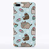 iPhone Case Cute Winter Cats for Apple iPhone 5 5S SE Hard Case Durable Protective Shell Cover Case (Frosty Cat Snowflakes, iPhone 5 5S SE)