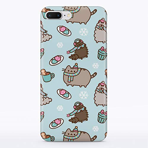 iPhone Case Cute Winter Cats for Apple iPhone 7 Plus 8 Plus Hard Case Durable Protective Shell Cover Case (Frosty Cat Snowflakes, iPhone 7 Plus 8 Plus)