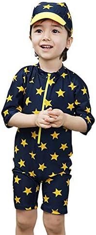 (ココスナー) 子供水着 キッズ ベビー 水着 男の子 子供用 星柄 こども ペンギン プール 海 水遊び 2点セット 紫外線対策 80 90 100 110 120