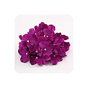 50Pcs Artificial Silk Hydrangea Flower Head Ball Chrysanthemum Wedding Path Home Hotel DIY Flower Wall Accessories,8 9