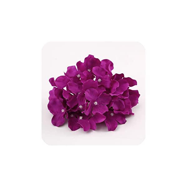 50Pcs Artificial Silk Hydrangea Flower Head Ball Chrysanthemum Wedding Path Home Hotel DIY Flower Wall Accessories,8