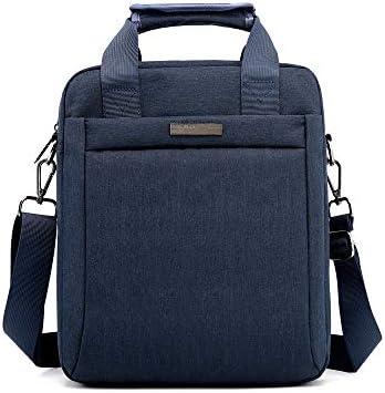 2wayショルダーバッグ メンズ 斜め掛け 手提げ 縦型 ビジネスバッグ 小さめA4 ipad pro 13 収納可 耐磨 通学 通勤鞄 自転車 かばん プレゼント男性 黒 ブルー グレー(8335#)