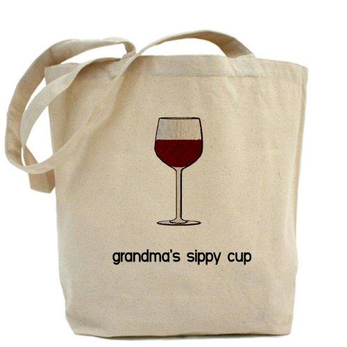 CafePress gamuza de–con boquilla de la taza para abuela, lona bolso, bolsa de la compra
