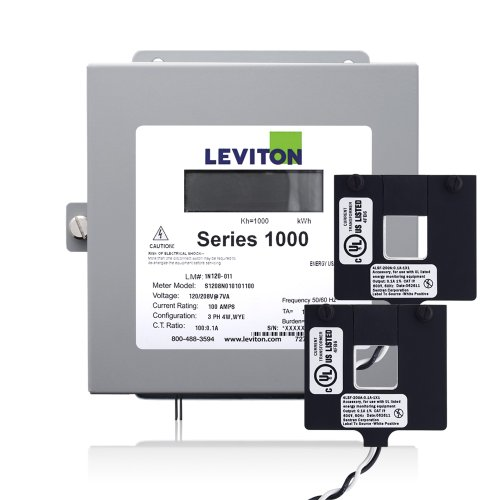 Leviton 1K240-2W Series 1000 120/240V 200A 1P3W Indoor Kit with 2 Split Core CTs