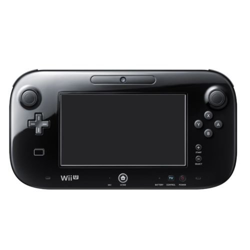Replacement For Official Nintendo Wii U Gamepad [Black]