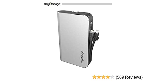 myCharge Portable Charger Power Bank - HubMax 10050 mAh External Battery  Pack | Wall Charger Foldable Plug | Built in Cables (Apple iPhone Charger