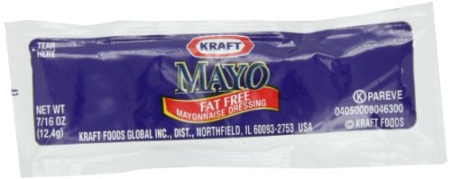 Kraft Mayo Fat-Free Mayonnaise, 200 Single Serve Packets
