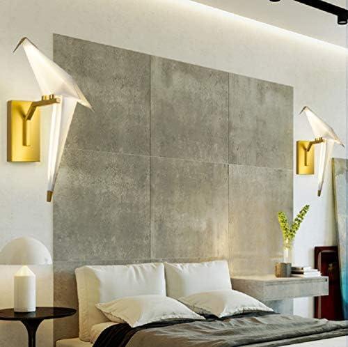 Unique-Carr/é Applique Murale De Salon Chambre /à Coucher Oiseau LED Nordique Moderne