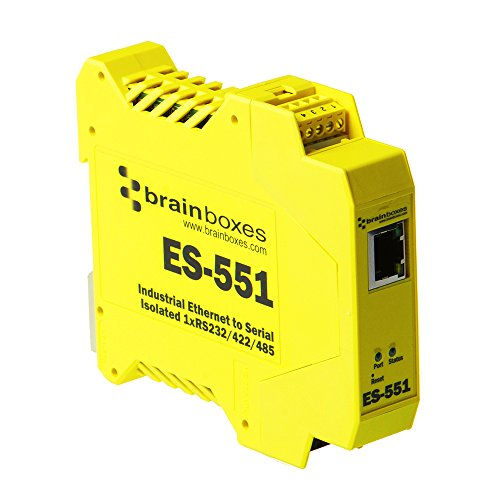 Brainboxes - Device Server - 10MB LAN, RS-232, RS-422, RS-485 (ES-551) by Brainboxes