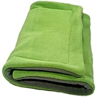 "C&C 2x1 Anti-Pill Fleece Cage Liner - 27"" x 14"" Loft Liner - Reusable Bedding - Choose Color - Extra Absorbent - Machine Wash - Made in USA"