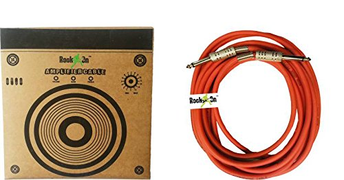 ROCKON 5 MTR 6.35 MM STRAIGHT GUITAR AMPLIFIER CABLE
