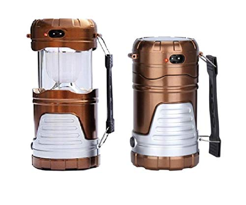 (Sweet decorations Multifunctional Solar LED Camping Lamp, Collapsible Portable Camping Lantern, Handy Rechargeable Light Best for Hiking,Camping, Emergency (Gold))