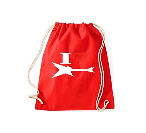 Shirtstown - Bolso de tela de algodón para mujer Rojo - rojo