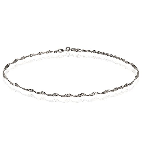 14K-Gold-14mm-Singapore-Italian-Chain-Anklet-9-Inches