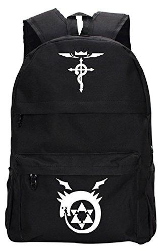 Gumstyle Fullmetal Alchemist Large Capacity Book Bag Laptop Backpack Anime School Bag Black