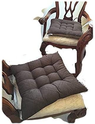Ofit Quilted Micro Suede Chair Pads Bench Cover Ottoman Pad Patio Long Chair Cushion Pads Indoor ONLY 4pcs-17x17