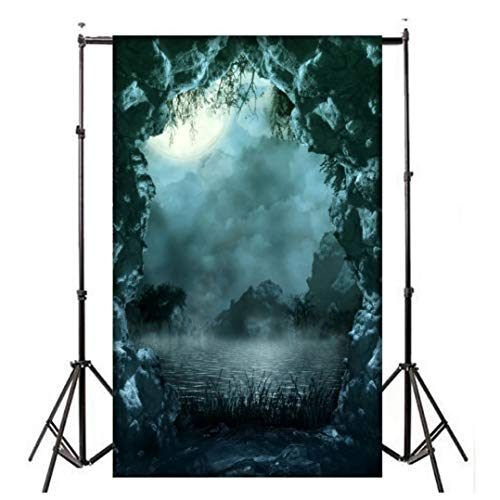 Dacawin Halloween Terror Atmosphere Photography Backdrops, Wrinkle Free