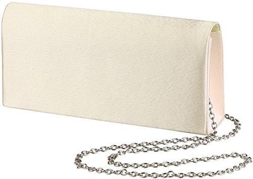 'Amelia' clutch/bolso de noche pequeño con cadena, el color:Negro Champán