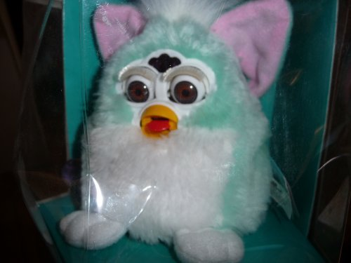 FURBY BABIES Interactive Electronic Toy (Baby blue, white belly, pink ears)