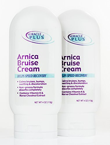 Miracle Plus Arnica Bruise Cream For Bruising  Swelling  Discoloration   Set Of 2  4Oz Each   Value Set