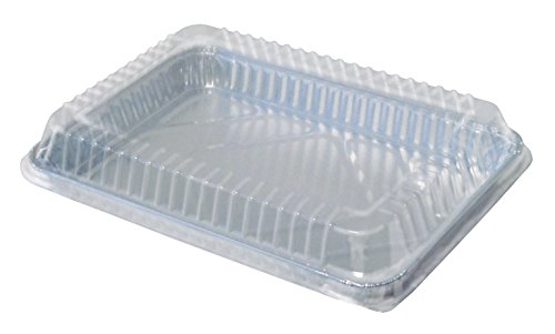 Durable Packaging Plastic Low Dome Lid for Disposable 1/4-Size Sheet Cake Pan (Pack of 100)