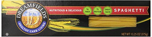 Dreamfields Pasta Healthy Carb Living, Spaghetti, 13.25-Ounce Boxes (Pack of 5)