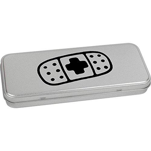 Azeeda 'Medical Plaster' Metal Hinged Stationery Tin / Storage Box (TT00083658) by Azeeda