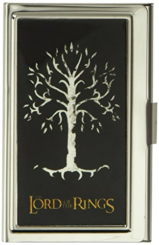 Buckle-Down Business Card Holder - THE LORD OF THE RINGS White Tree of Gondor Black/White/Gold - Small