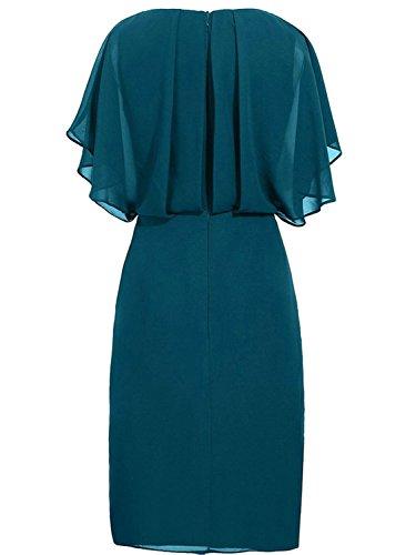 Cdress Courtes Robes De Demoiselle D'honneur Robes Formelles De Mariage De Robe De Soirée De Bal En Mousseline De Soie Lilas