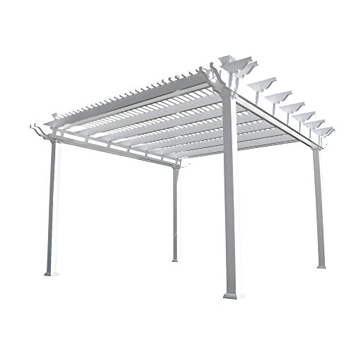 Weatherables Largo 12 ft. x 12 ft. White Double Beam Vinyl Pergola