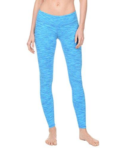 Danskin Women's Supplex Ankle Legging with Wide Waistband, Blue Space Dye, Small