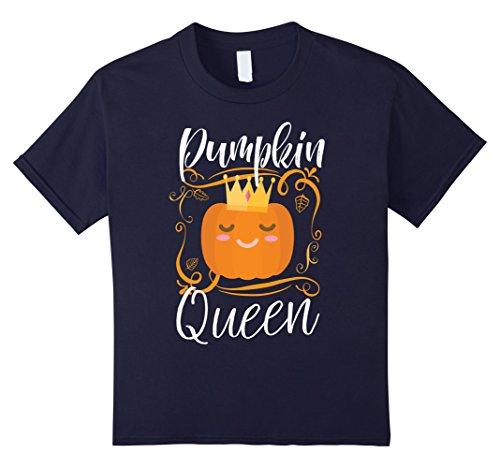 Kids Pumpkin Queen Cute Pumpkin Spice Season Halloween T-shirt 12 - Spice Halloween Girls For
