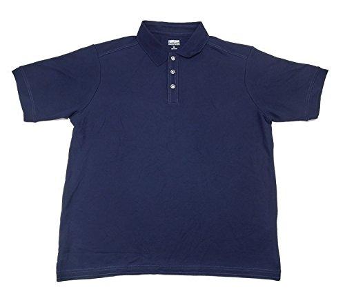 Pima Cotton Pique Polo Shirt (Kirkland Signature Men's Size Medium Pique Performance Polo Shirt, Navy)