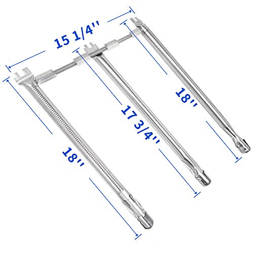 X Home 69787-18″ Burner Tube Set Replacement for Weber Spirit 310 Spirit E310, Spirit S-310/S-320/E320 with Up-Front Control(2013-2017), Stainless Steel Burner Tube Kit for Weber Spirit 300 Series
