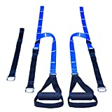 Heavy Duty Suspension Trainer Exercise Equipment Stretch Bands Workout Straps with Door Anchor, Adjustable Buckles and Grip Handles for Home Gym Fitness Trainer