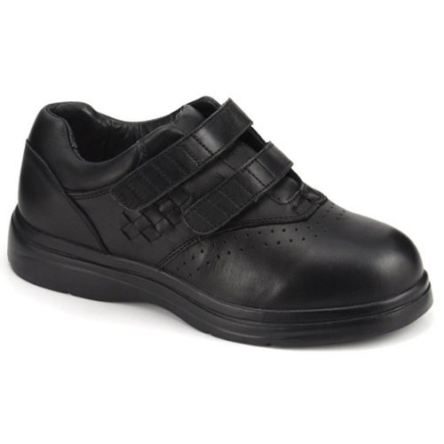 Apis Answer2 446-1 Women's Therapeutic Extra Depth Shoe: Black 9 Medium (B) Velcro by Apis Footwear