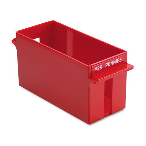 MMF Industries : Porta-Count System Extra-Capacity Rolled Coin Plastic Storage Tray, Red -:- Sold as 2 Packs of – 1 – / – Total of 2 Each