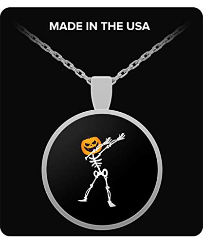 De Look Dabbing Dab Skeleton Pumpkin Halloween Funny Necklace for $<!--$19.95-->