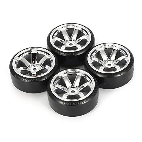 Detectoy 4Pcs Hard Plastic RC Drift Tire Hard Tyre Set for Traxxas HSP Tamiya HPI RC On-road Vehicle Drifting Car Spare Parts by Detectoy