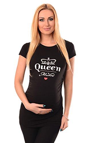 Purpless Maternity Queen Mum- Camiseta Para Embarazada 2009 Black