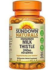 Sundown Naturals Milk Thistle, Xtra, 240 mg, Capsules, 60 ct (Pack of 3)