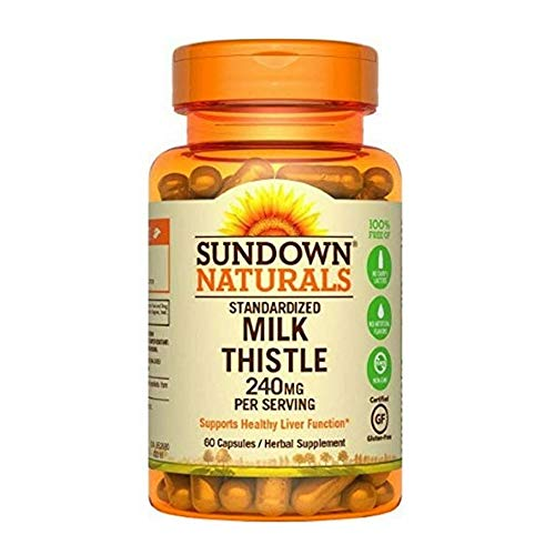 - Sundown Milk Thistle 240Mg Capsules 60 Ct (5 Pack)