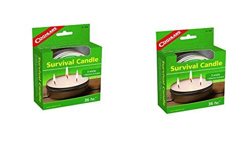 Coghlans 36 HOURS SURVIVAL CANDLE,6 OZ (2 Pack)
