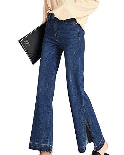 Bleu Large Bootcut Jeans Oversize Droite Grande Pantalons Taille Femme ZhuiKunA 1wPqzFxq