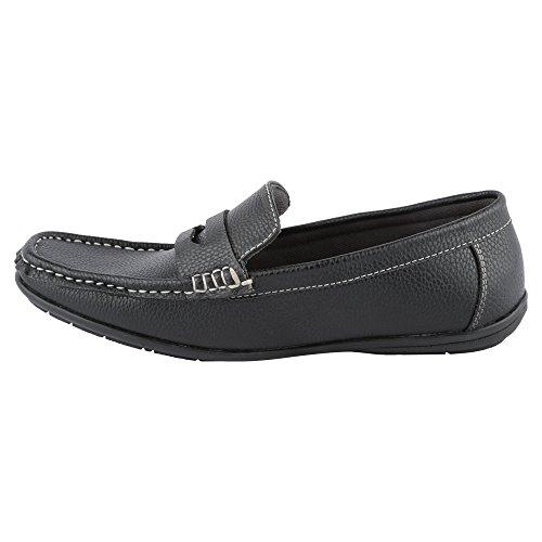 Hi-Attitude Men's Black Synthetic Loafers (450080443001) – 6 UK