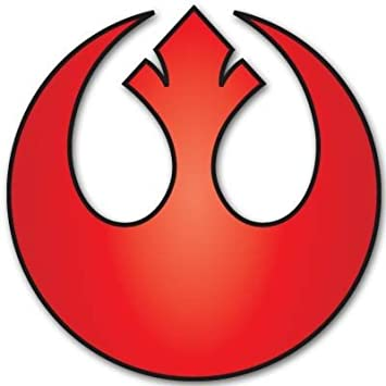 Rebel Alliance Logo Decal Sticker Star Wars RED 1/""