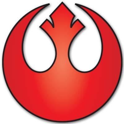 Star Wars Rebel Alliance Vynil Car Sticker Decal - Select Size (Rebel Alliance Star Wars)
